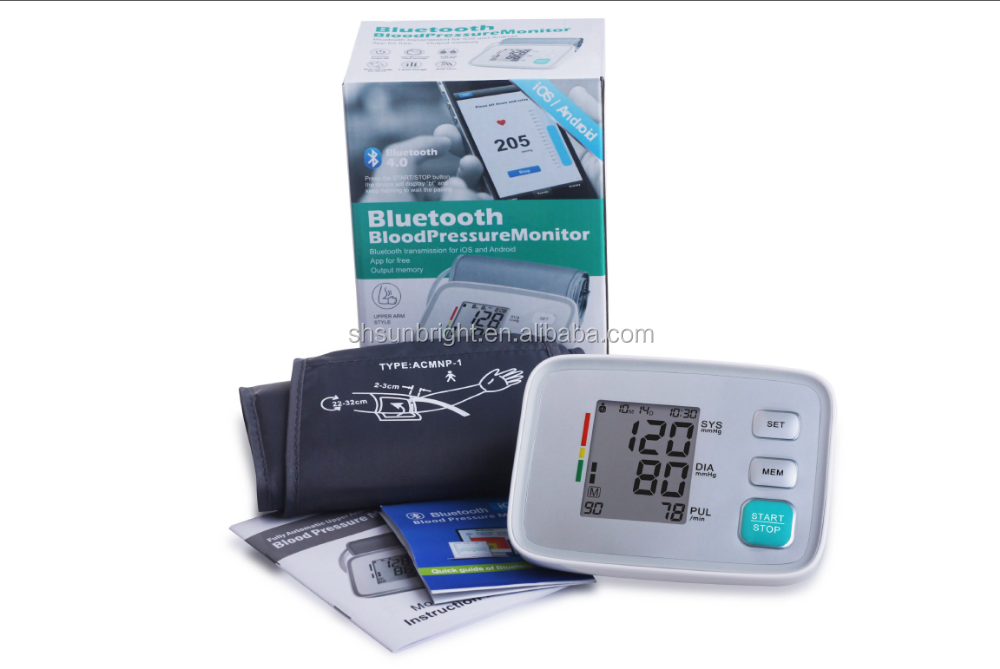 sunbright full Digital bluetooth SUN-200EH iOS Android blood pressure monitor