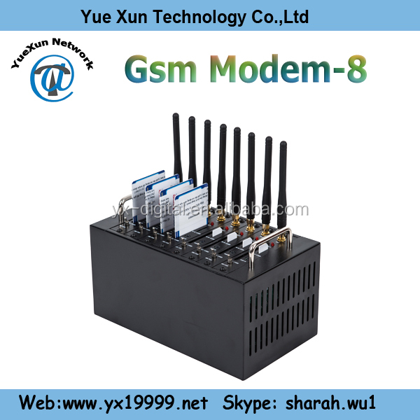 support online payment by credit card 8 port gsm modem