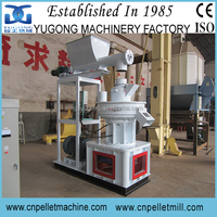Yugong Brand Vertical Ring Die Pellet Maker Machine with Auto Lubrication System