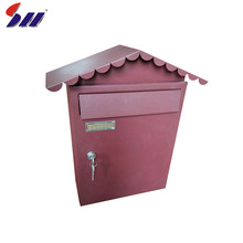 Widely used outdoor standing style heavy duty steel weatherproof mailbox