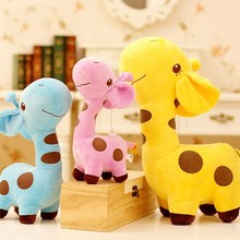 1 PC Unisex Baby Kid Child Girls Cute Gift Plush Giraffe Soft Toy Animal Dear Doll Christmas Birthday Happy Gifts18 X 17 cm