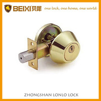 High quality brass made polished brass finish single cylinder deadbolt