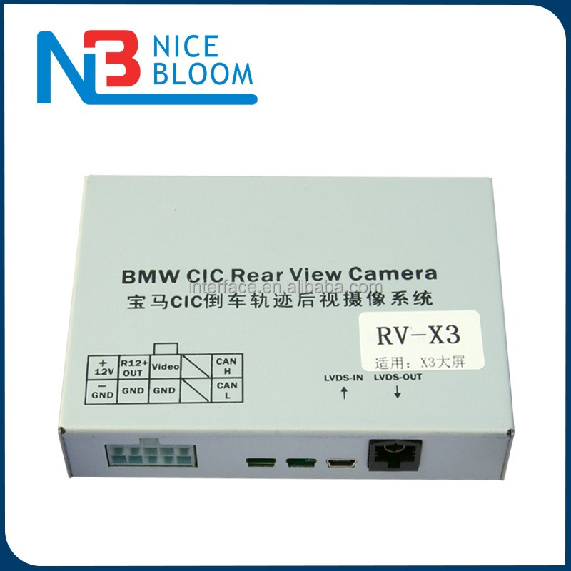Parking System Retrofit Camera Interface for BMW X3 with CIC system with Active Parking Guidelines