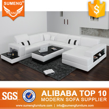 modern romanian elegant furniture U shape 6 seater sofa set
