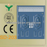 china cheap plain 2 leaf classical steel iron gate door prices