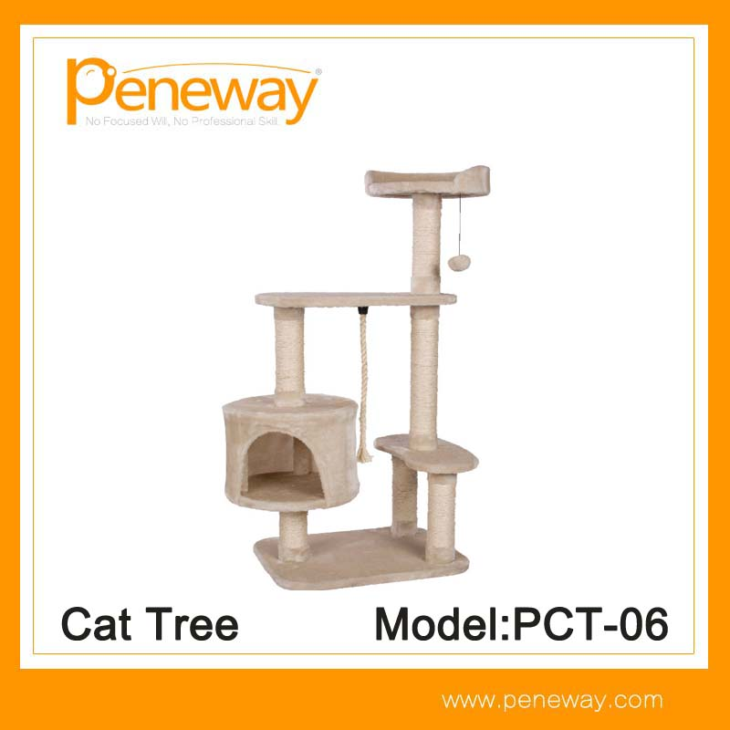 Newest luxury cat tree high mansion design manufacturer