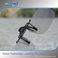 Clip on circular polarized 3D Glasses for 3D TV and 3D cinema