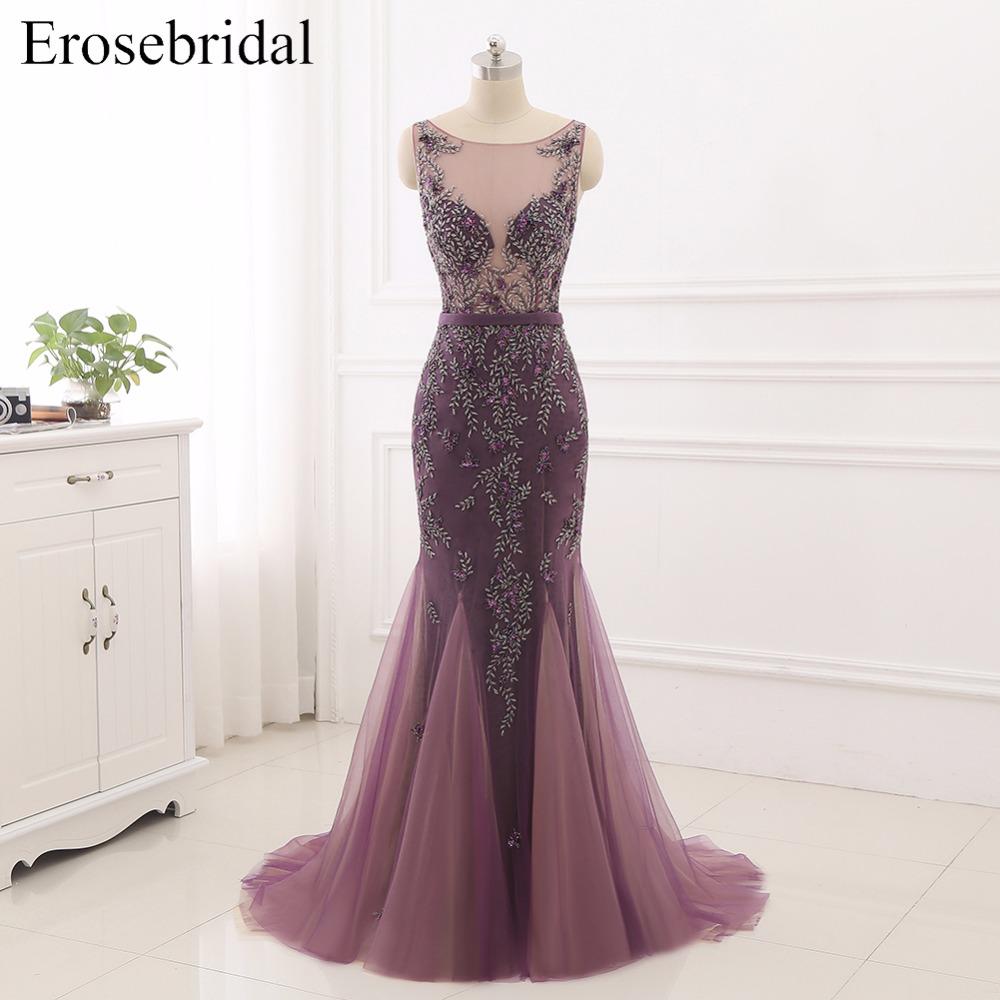 Unique Mermaid Evening Dress Erosebridal 2018 New Formal Prom Party ...