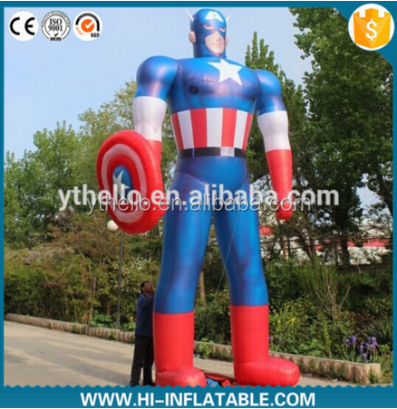 Hot sale event party decor captain America inflatable for sale