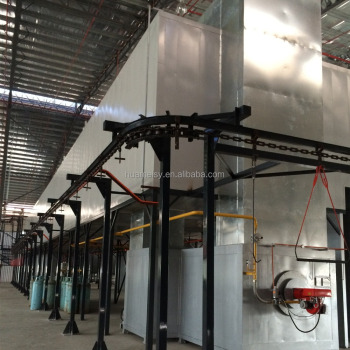 Power and Free Conveyor Powder Coating Plant For aluminium profile