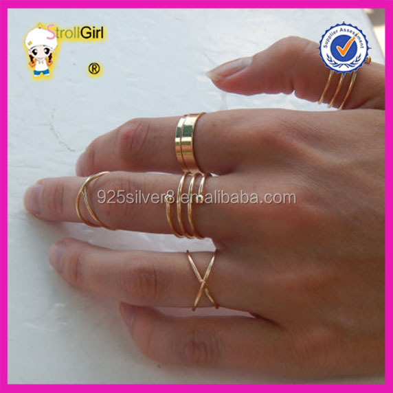 6 piece set knuckle rings 1 gram gold ring designs for girls