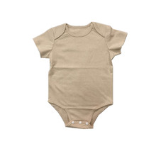 Organic cotton seersucker baby romper children kids organic romper