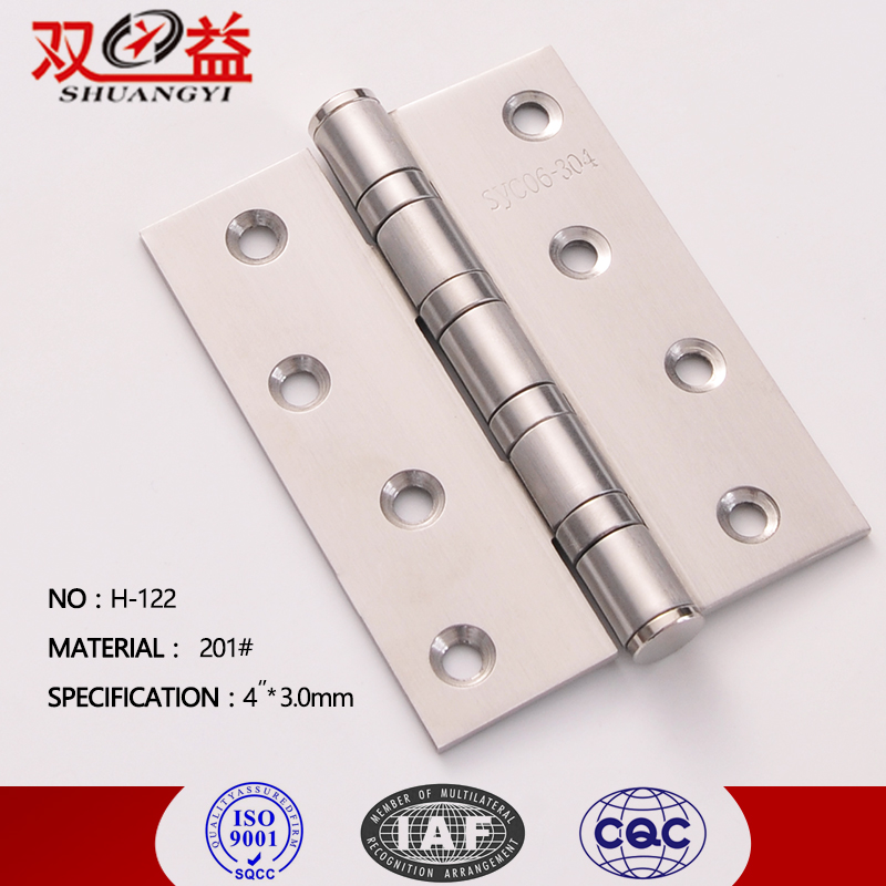 Furniture hardware fittings h panel door and cabinet hinges 201 SS 4BB
