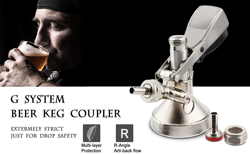 Keg Coupler- A D S G Type Beer Keg Coupler Dispenser, Beer Tap for Kegerators, Tap your Keg for the Perfect Brewing