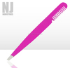 Professional Slanted Eyebrow Tweezer with Comb