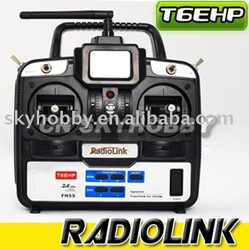 2.4G 6CH Transmitter RadioLink T6EHP-E Transmitter for RC helicopter airplane