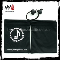 Promotional item custom printed microfiber cleaning cloth envelope jewelry pouch , color suede jewellery pouch with logo