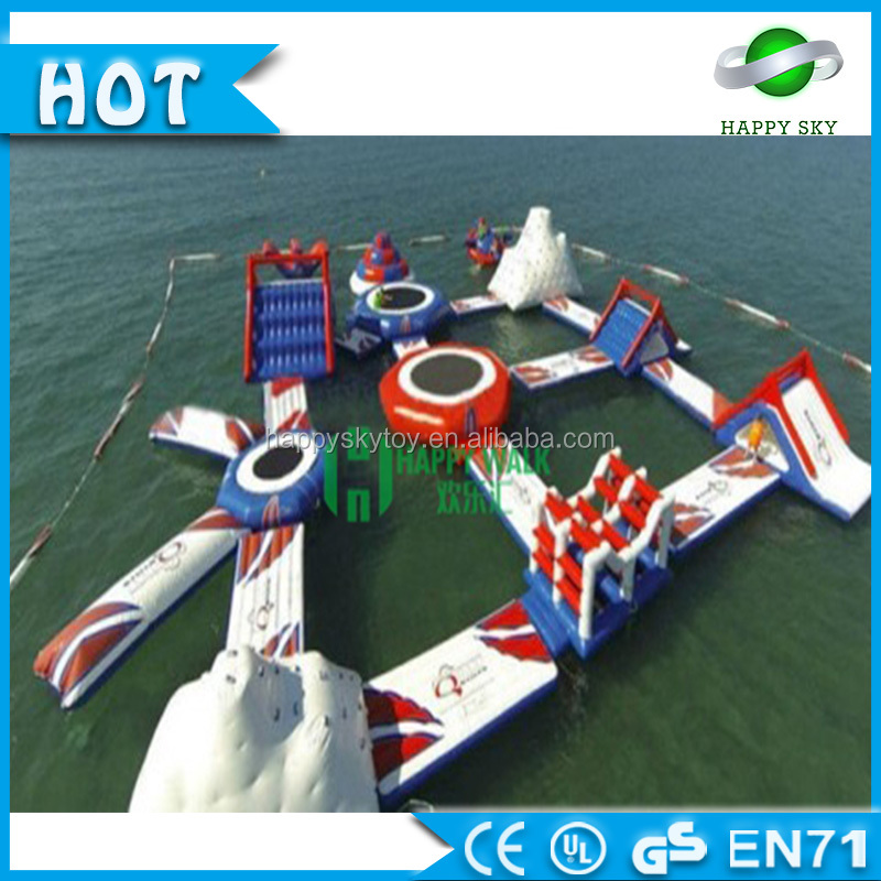 Amusement floating Giant Inflatable Water Park Equipments Water Games Inflatable Aqua Park For Adults