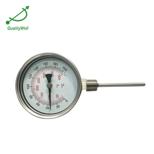 Qualified long stem galvanized steam dial temperature gauge
