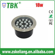 High Power 18w led recessed deck lighting/Waterproof led surface mounted led inground spot light