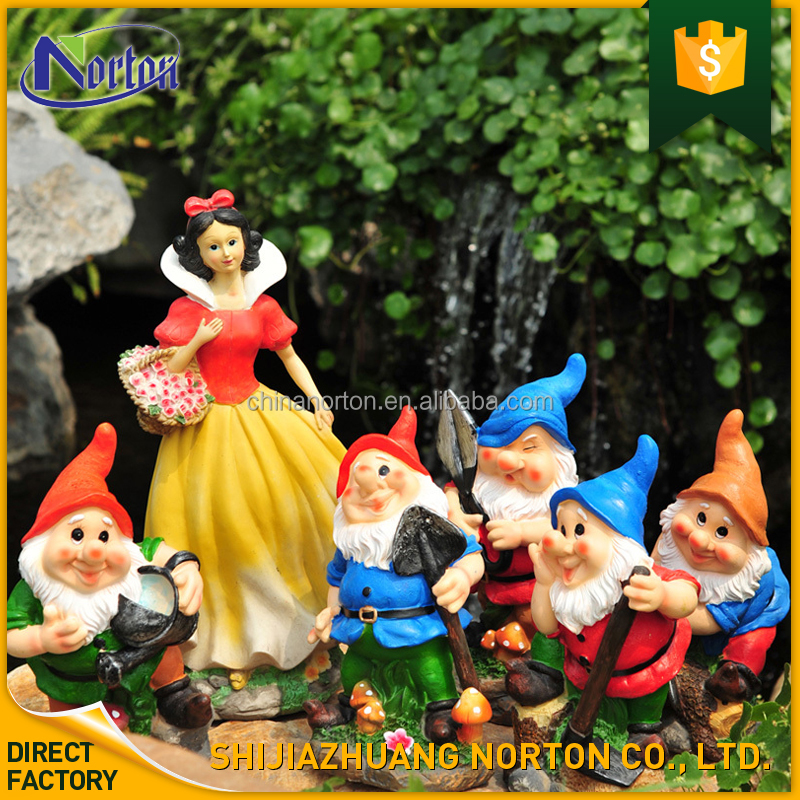Garden decoration resin snow white and the seven dwarfs statue NTFC-120Y