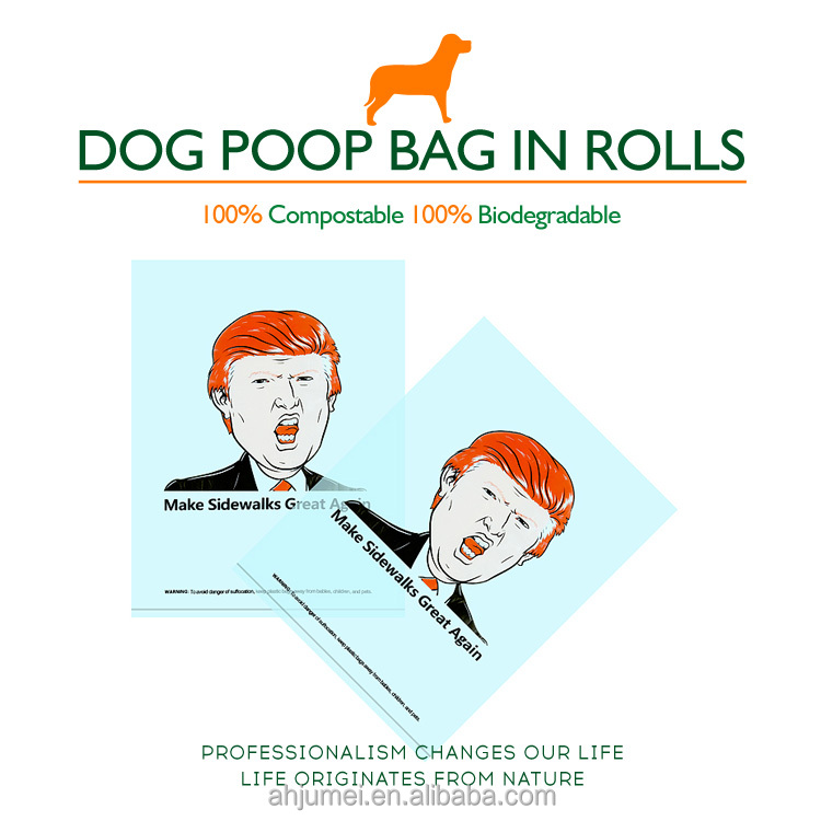 competitive price customized dog shit pet waste bag with EN13432 / BPI OK compost home ASTM D6400 certificates