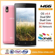 Hot selling OEM MG6 5 inch 1.3ghz cpu mt6572 dual core 3g cell phone