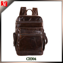 2015 high end vintage genuine leather bag men laptop bag backpack