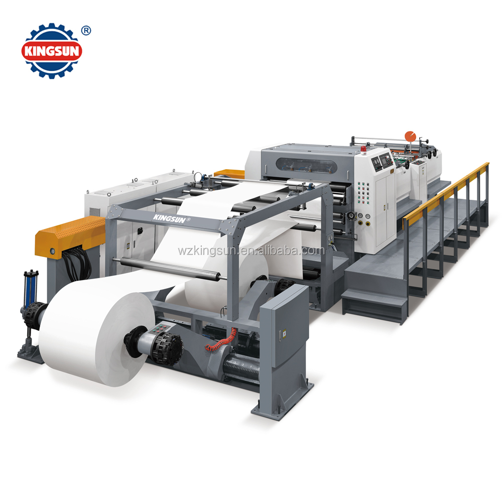 SM-1400 Automatic Double Helix Rotary blade Paper Roll to Sheeter Cutter machine