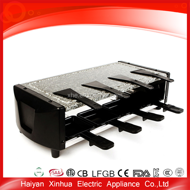 Professional bbq electric hot stone grill set