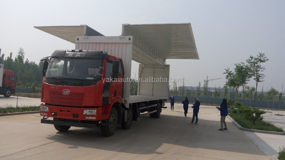 aluminum side open truck, side loading truck