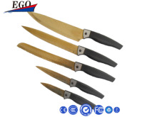 Stainless steel colorful top handle kitchen knife