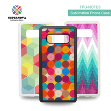 Amazon Wholesale Custom Printed 2D Sublimation Case, Sublimation Blank Phone Case For Samsung Note 8, TPU Phone Case