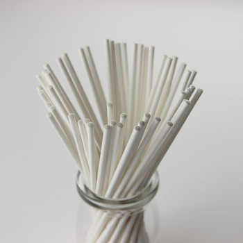 Eco-Friendly Stripe Smooth Lollipop Paper Stick