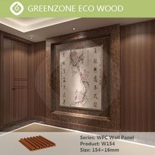 green house material non-toxic wood plastic modern interior wall panel by eco plastic