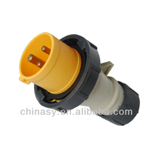 IP67 industrial socket and plug ,16A-4H/100-130V,2P+E,IP67,splashproof