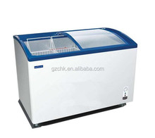 312 L glass door popsicle freezer /Ice cream freezer /Supermarket freezer