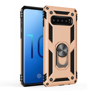New arrival TPU+PC shockproof mobile phone case for Samsung S10 S10 Plus S10e with stand