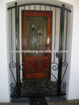 Ornamental wrought iron indoor swing gate home design g for Indoor gate design
