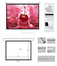 "60""-150"" Manual Wall Screen Drop Down Projection Screen With Self Locking Screen wholesale cheaper price"