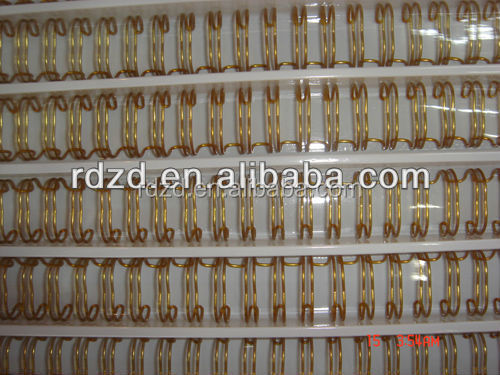 double loop wire gold color for book binding