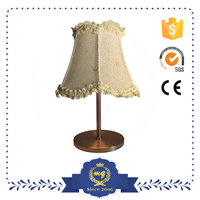 Home Hotel Lace Fabric Decorative Modern Table Lamp
