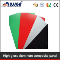 Alusign high gloss red acp panel composite de aluminio