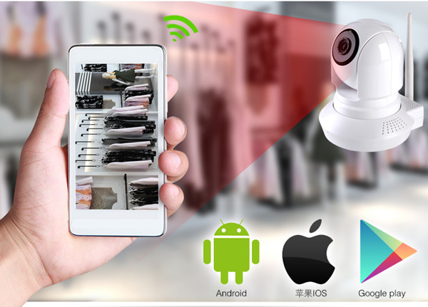 P2P 720P HD wireless ip camera with IR-cut filter