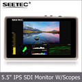 Ultra high resolution 1920*1080 full hd 5.5 inch small size lcd monitor with HDMI 3G SDI input waveform Histogram