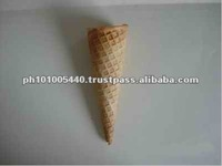 Gloden Brown Color Sugar Cones For Ice Cream