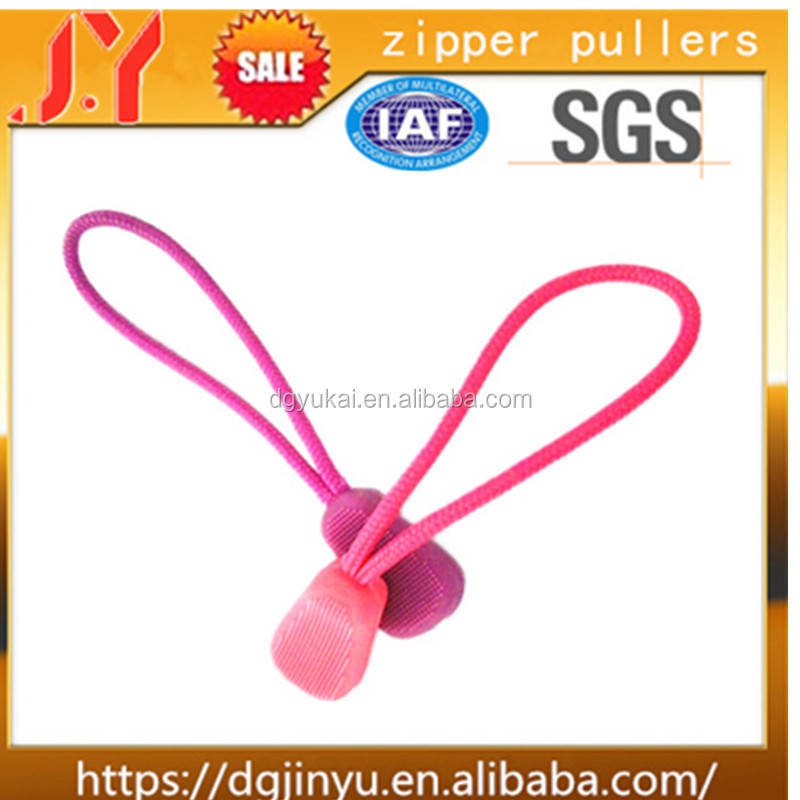 China factory simple fashion custom pink zipper puller