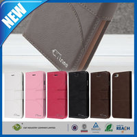 C&T Original factory made flip pu leather stand case for iphone 6 plus