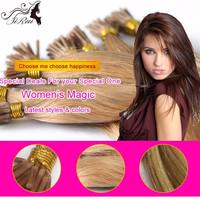7A top grade remy hair pre-bonded I tip hair extension, wholesale buying brazilian hair in china