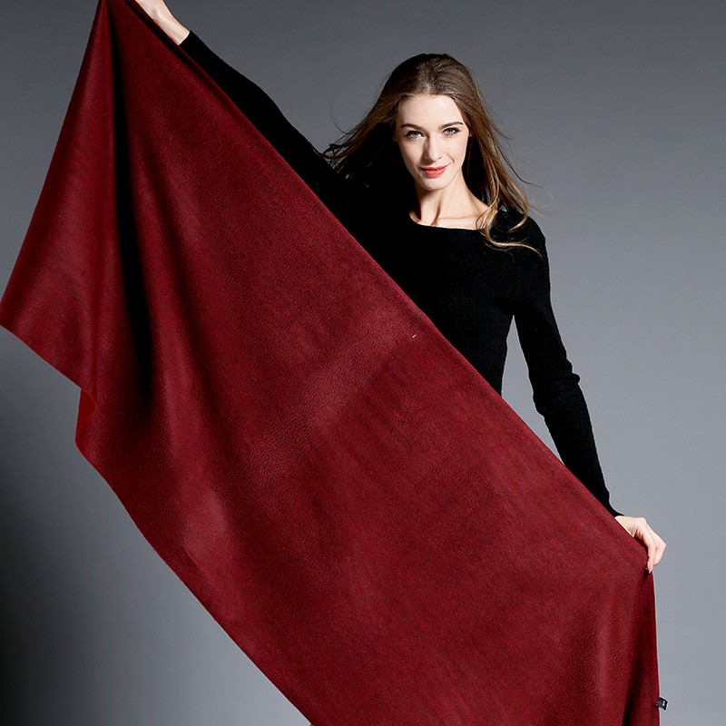Pure Color Cashmere Shawl for Women